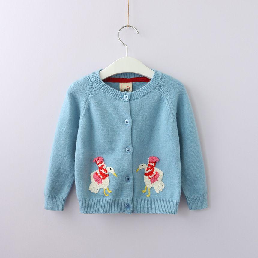 8ef027da1f3a 2018 New Fall Cartoon Chicken Baby Girls Sweaters Soft Knitted ...