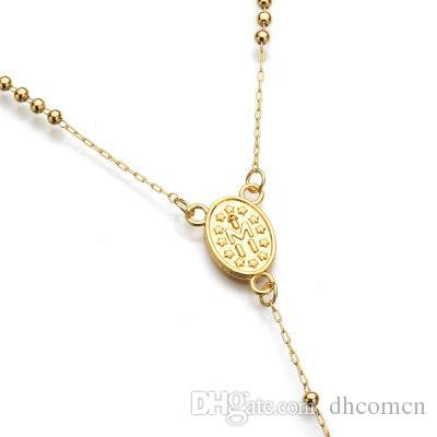 Jésus Croix Pendentif Collier Jésus perles Collier Hip Hop Bijoux Pour Hommes Femmes 62 cm Livraison Gratuite