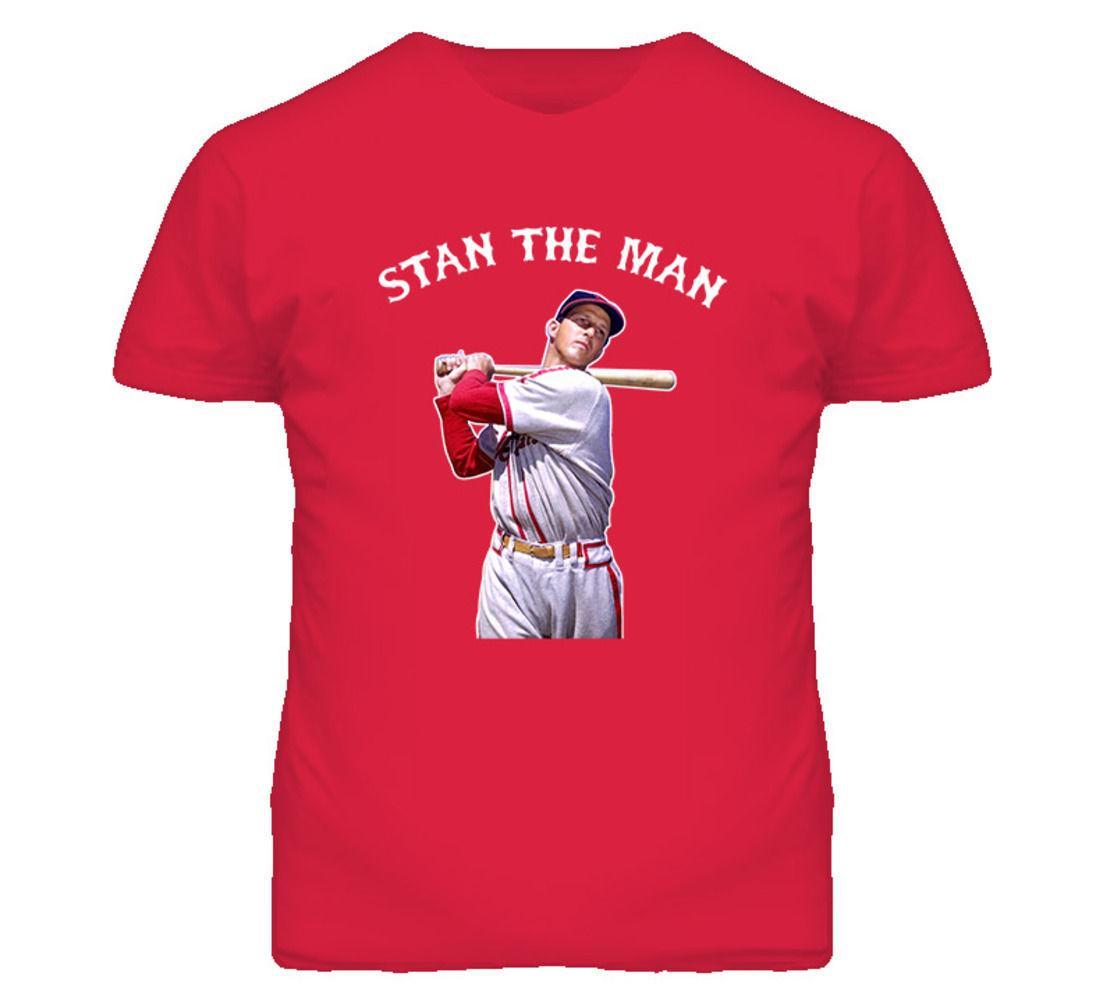 Baseball St Louis Stan The Man Musial T Shirt Mens 2018 Fashion