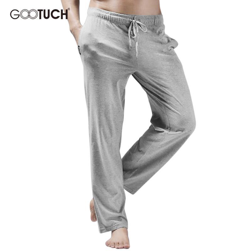 Compre Pantalones Hombre Pantalones Con Cordones Hombre Pantalones  Pantalones Con Pijama De Algodón Para Hombres Pantalones De Pijama Sueltos  4XL 5XL 6XL ... 3b636912d741