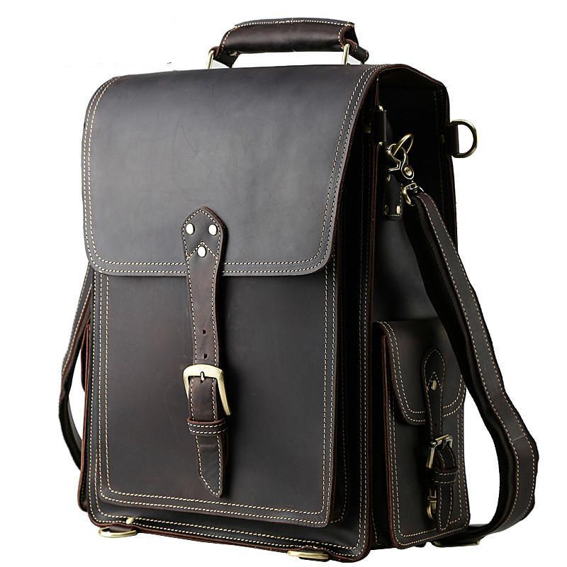 986574b248 Natural Leather Rucksack Men Backpack Vintage Trendy Weekend Trip Bags  Travel Bag Fit For 15.6 Inch Laptop PR001097 Messenger Bags Leather  Backpack From ...