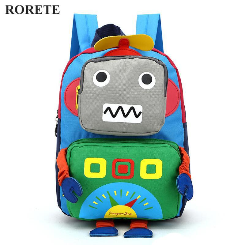 0b71e68e9793 3D Cartoon Kids Bag Robot Mochila Children Backpacks Kindergarten Backpack  Child School Bags Satchel For Baby Boys And Girls Rolling Backpack  Clearance ...