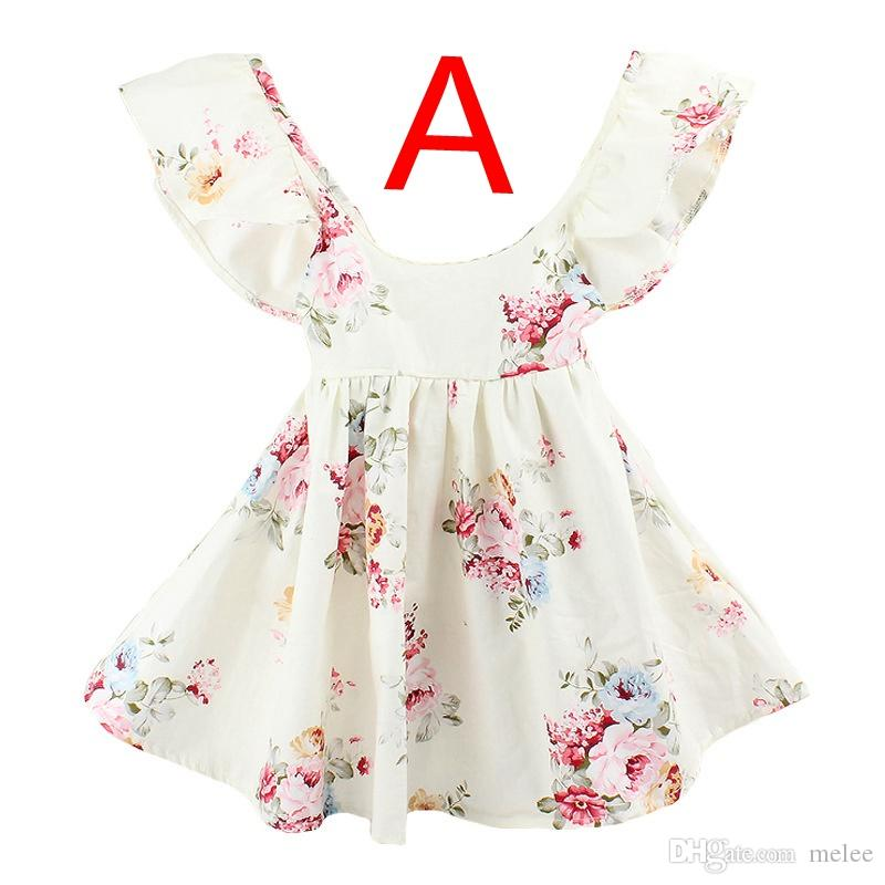402f346be50f INS Summer New Baby Girls Floral Beach Dress Summer Lotus Leaf ...