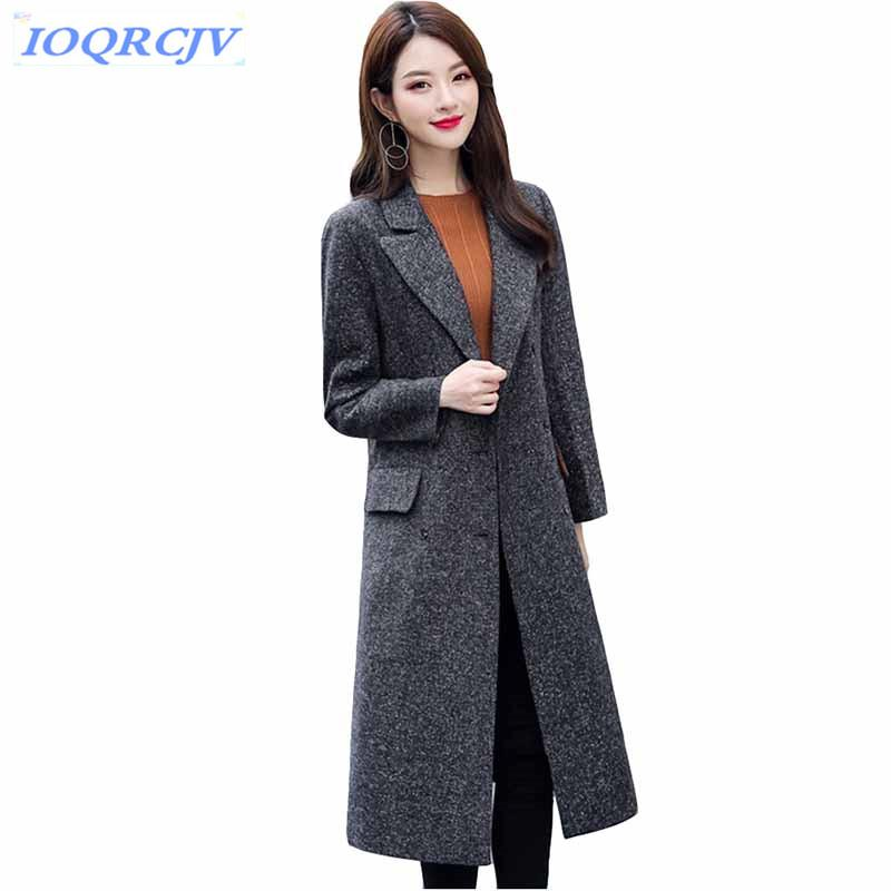 6450ff4b00a 2019 Womens Wool Coats 2018 Spring Autumn High Quality Double Breasted Slim  Tops Plus Size Windbreaker Long Jackets Coat IOQRCJV N083 From Red2015
