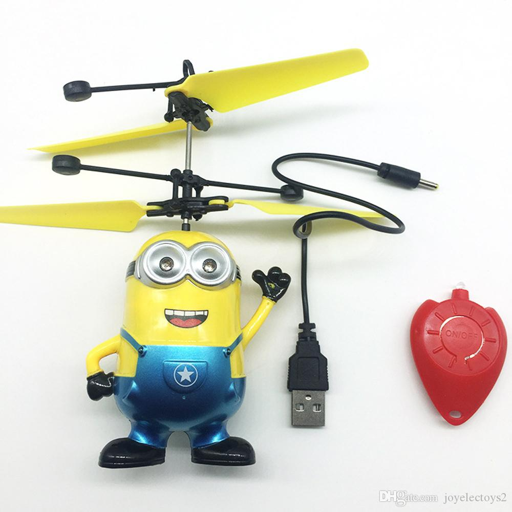 RC flying induction Minions toys Electric Aircraft Flying Toys UFO Toys with water droplets remote control with retails package box free sh