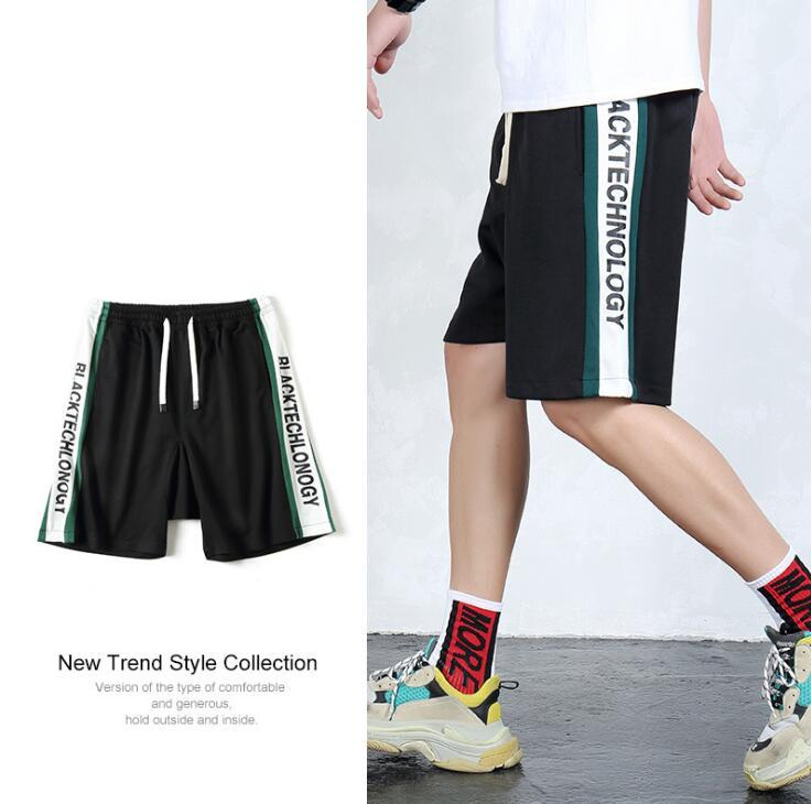 6da3dacac28f 2019 Fashion Mens Designer Shorts 2018 Summer Hip Hop Street Style Jogging  Letter Print Big Plus Size Loose Shorts For Male From Petal01