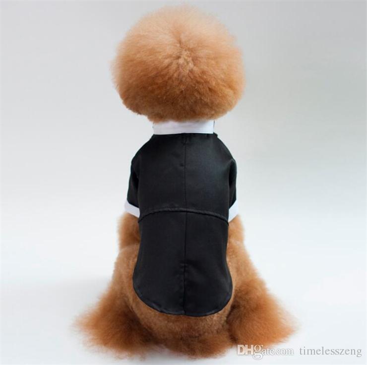 S-XXL Собака Костюм Pet Одежда Костюм куртка Тедди Пудель пальто принца Свадебный костюм смокинг Bow Tie собак Одежда Pet Одежда Wear