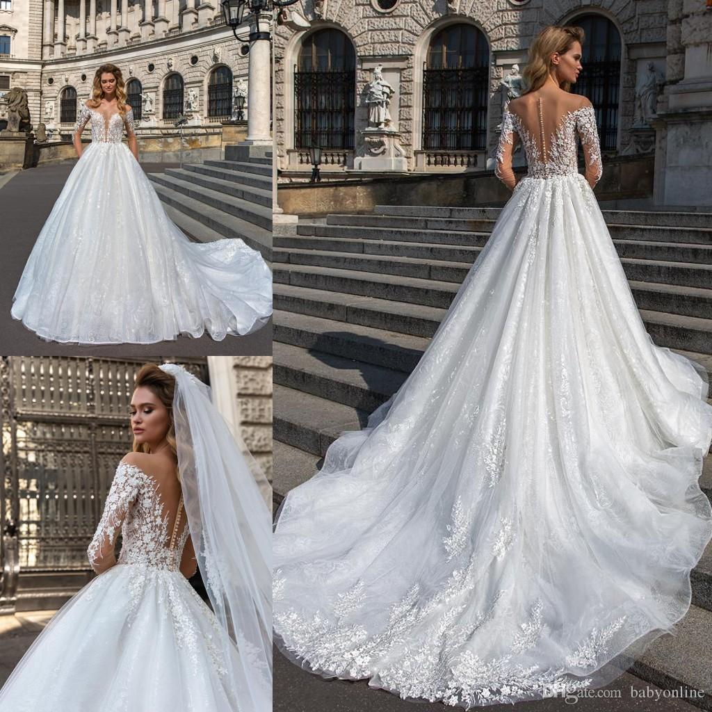 Vintage Wedding Dresses For Sale South Africa: Discount 2019 Pure White A Line Wedding Dresses Vintage