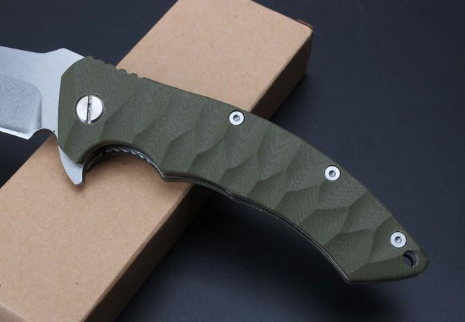 Browning G10 handle relief Camping Hunting Survival Knife Clasp EDC Tools Outdoor high hardness curved blade folding gift knife wholesale