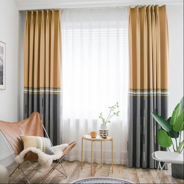 2019 european north style splice embroidered linen curtains for rh dhgate com