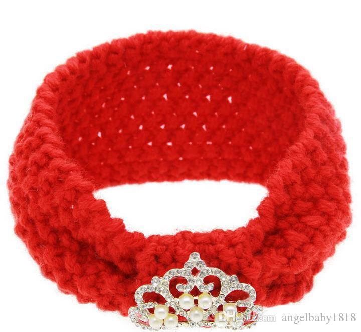 Autumn Winter Infant Baby Knitted Headbands Girls Hair Bands Childrens Crown Hairband Lovely Kids Headwraps Hair Accessory