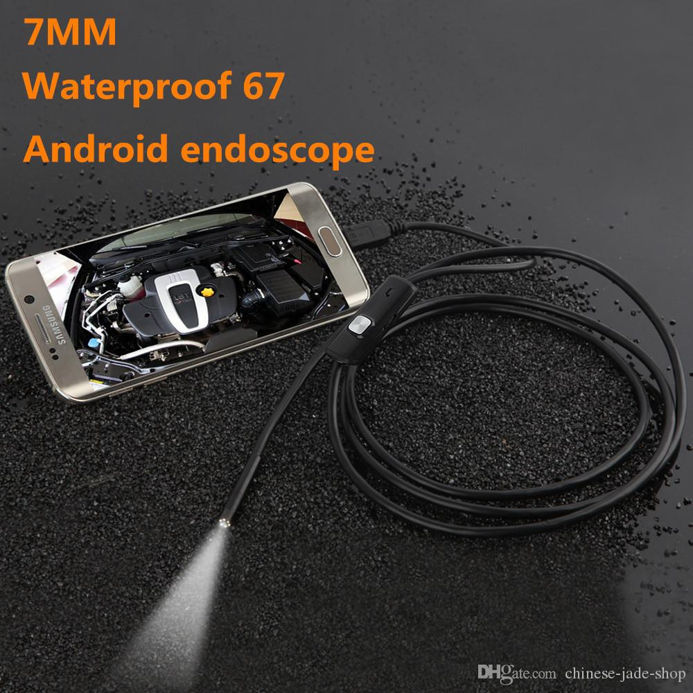 5.5mm 7.7MM Objectif Android USB Endoscope Caméra 1M 2M IP67 Étanche Snake Pipe Gadget Inspection Android Téléphone OTG USB Borescope 6LED