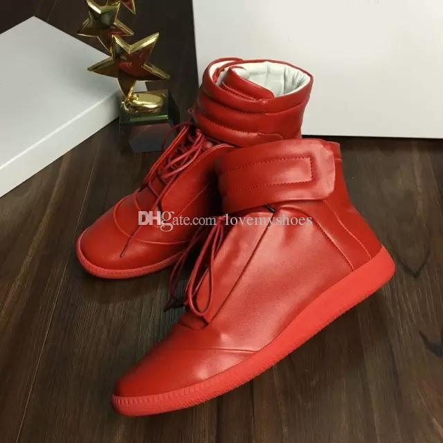 Nouveau Designer Double Box Haute Qualité Homme Nom Marque Haut Haut HookLoop Couleurs Mixtes Plat Pas Cher Sneaker Outdoors Chaussures Taille 39-46