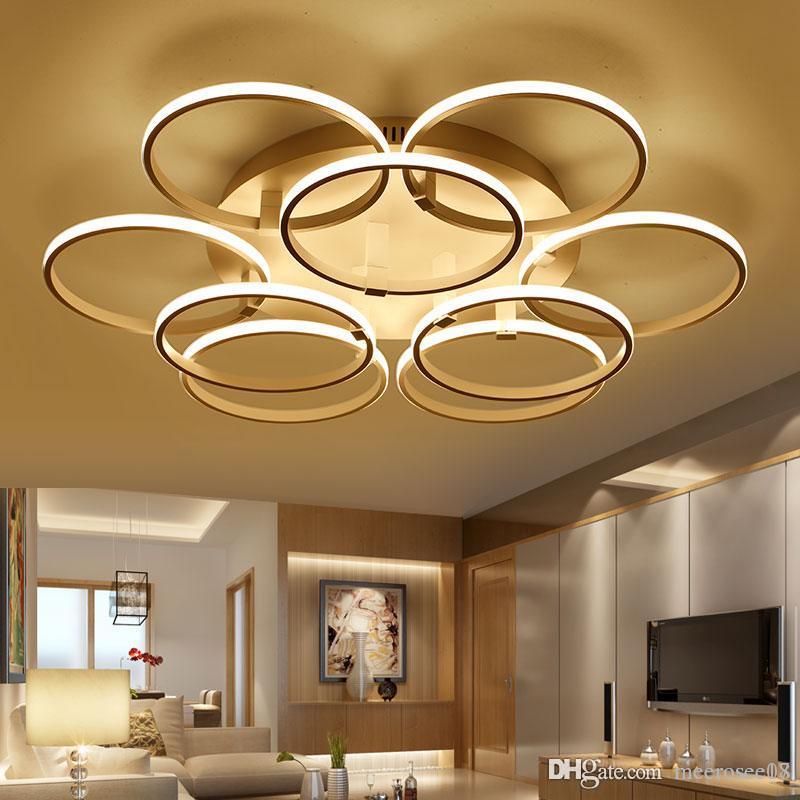 modern super thin circel rings led ceiling chandelier lamp living rh dhgate com