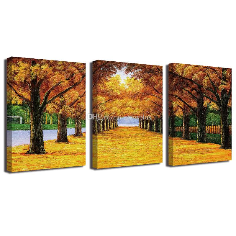 2018 Oil Painting Gold Ground Canvas Hd