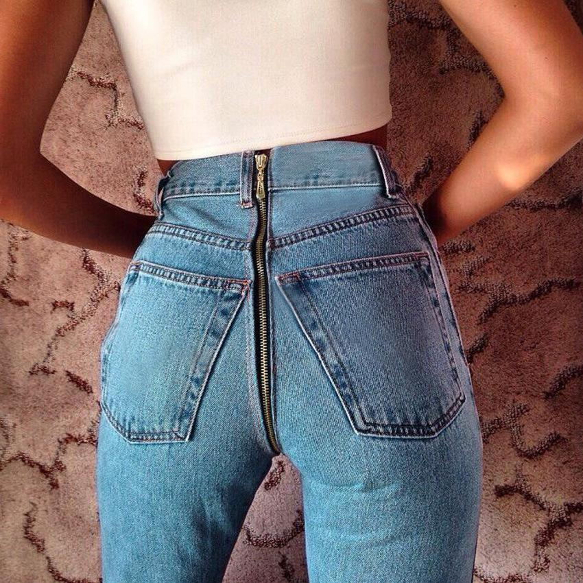 Back 2019 Jeans Waist Pantalon Black High Women Zipper Homme Hip xwAwPvq0