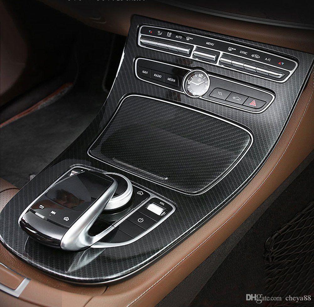 carbon fiber style center console gear panel cover for mercedes benz rh dhgate com