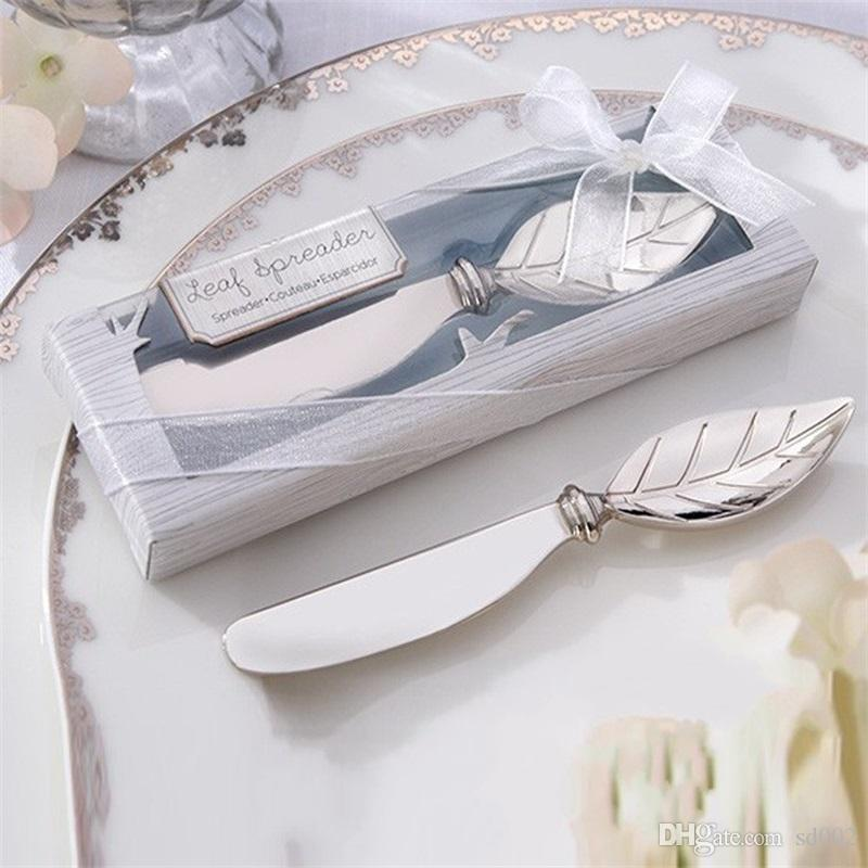 Cool Wedding Gifts.Creative Wedding Gifts Leaf Butter Knife For Smear Cake Unique Party Favor Decorations Safe Factory Direct Sale 3 8zr X