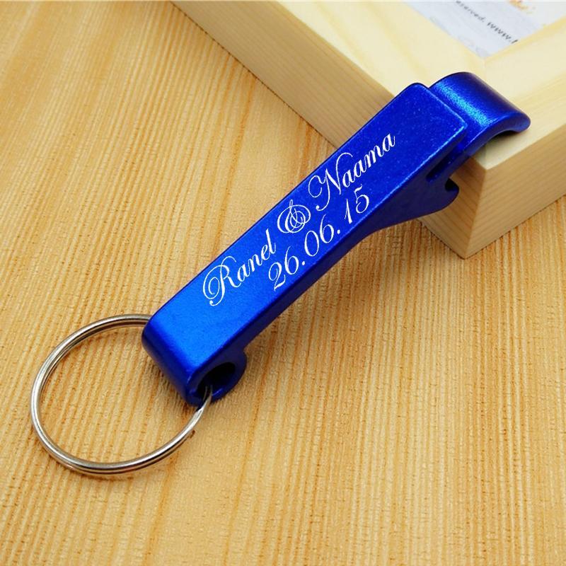 50x Key Rings Keychains Beer Bottle Openers Custom Personalised