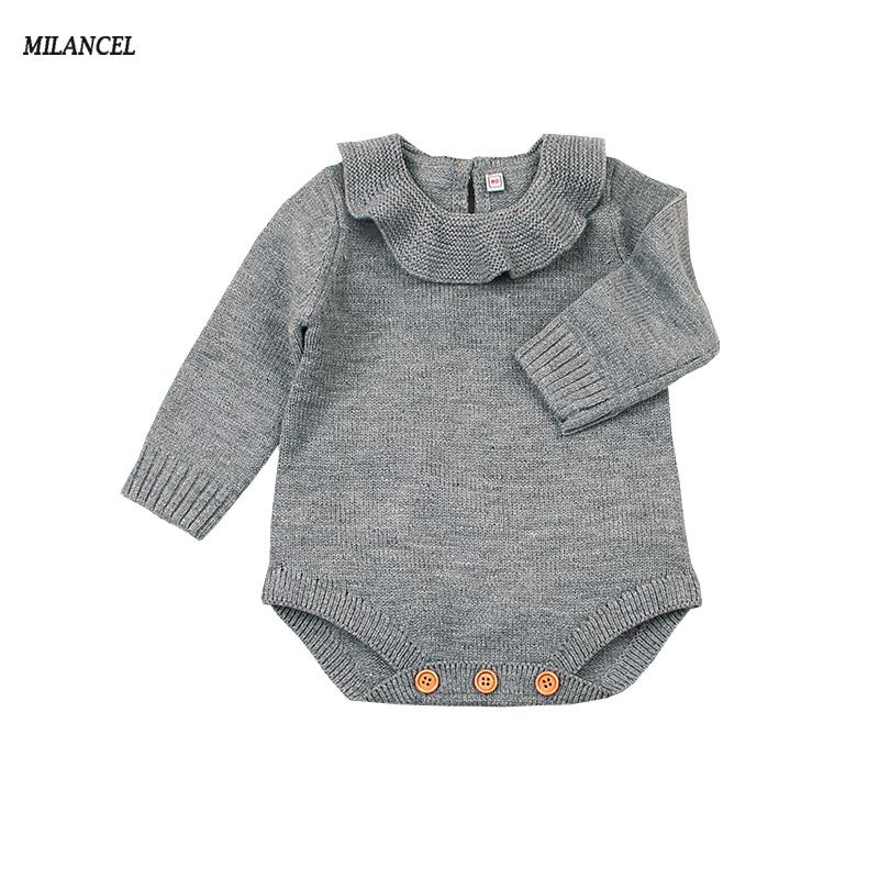 c4626d3c7d5c 2019 MILANCEL 2018 New Baby Bodysuit Knitted Baby Boys Bodysuit Solid Girls  Bodysuits Long Sleeve Clothes From Yohkoh