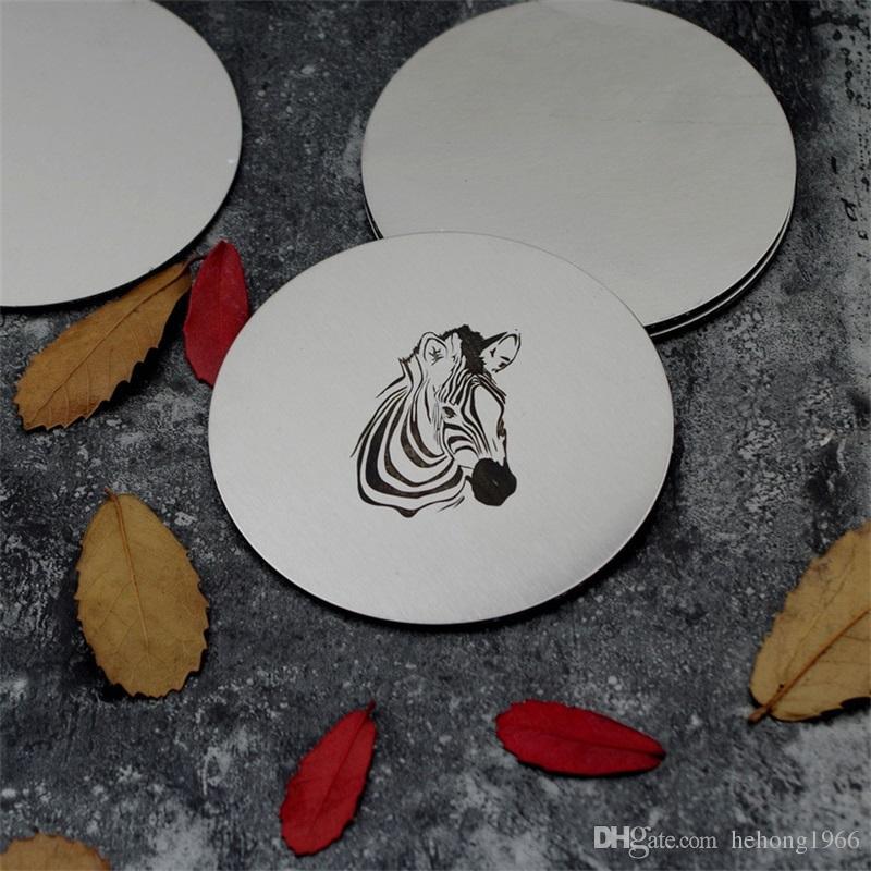 Фламинго лося из нержавеющей стали круглые подставки чашки кофе металла изолированные тепла мат литературный стиль Acking украшение стола горячие продажи 5zx Z