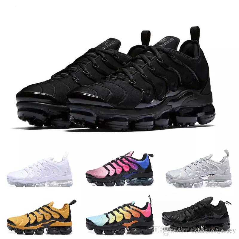 buy popular 76fa0 591d9 Compre Nike TN Plus Vapormax Air Max Airmax 2018 Ventas Calientes TN Plus Tn  Ultra TN Plus Olive Metallic Blanco Plata Hombres Deporte Zapato Hombre  Paquete ...