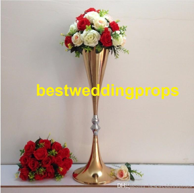 new style tall gold mental flower stands wedding tall and large rh dhgate com