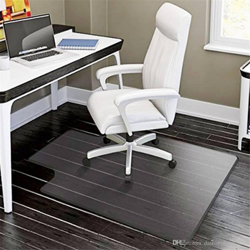 2019 pvc matte desk office chair floor mat protector for hard wood rh dhgate com