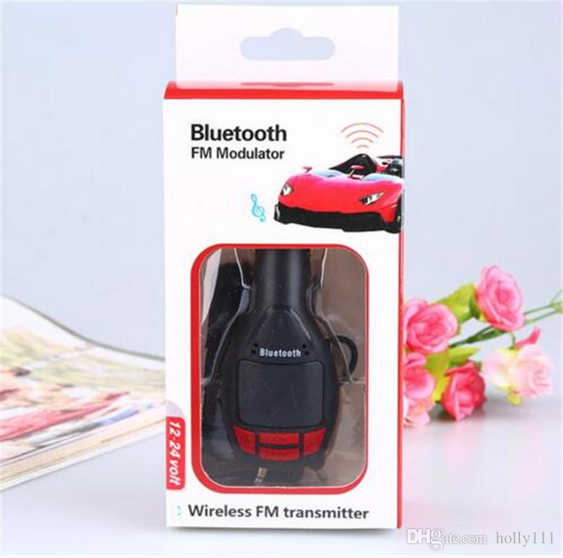 FM Transmitter Wireless Bluetooth Music Hands-free Calling Wireless MP3 Player Car Kit USB Charger Remote controller DHL