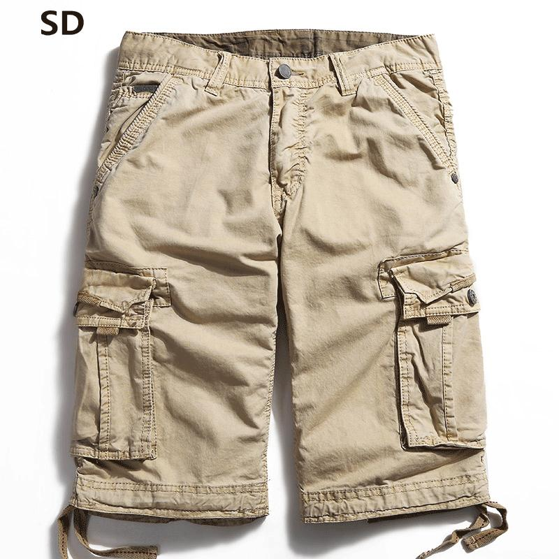 84701d4821c 2019 SD Brand Cargo Shorts Bermuda Multi Pocket Shorts Brand Men Khaki Short  Pants Summer Army Workout Wear Bottoms Homme Joggers 59 From Guocloth