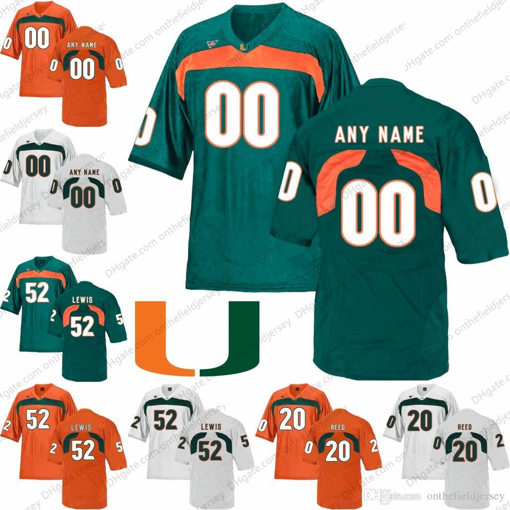 924a44933 ... spain 2018 custom ncaa miami hurricanes any name number football jerseys  orange green white 20 ed