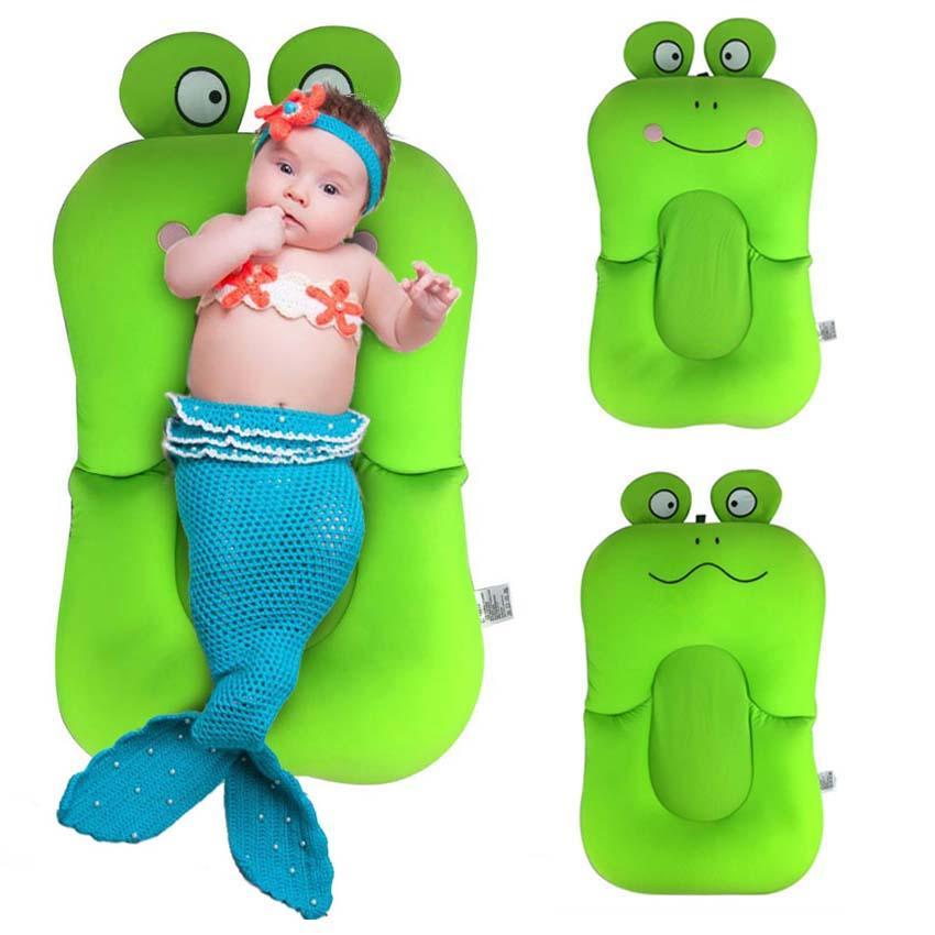 Frog Design Foldable Baby Bath Tub/Bed/Pad Bath Chair/Shelf Baby ...