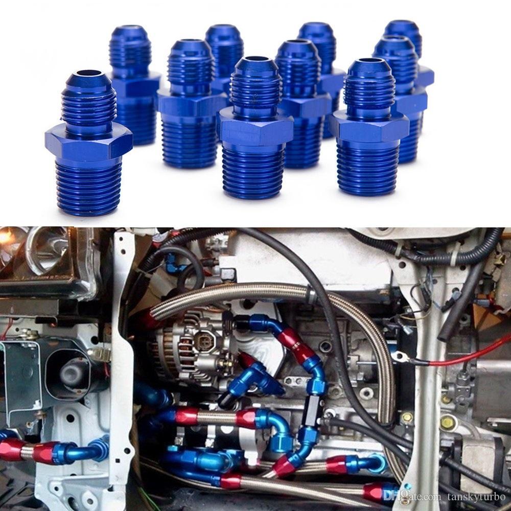 Oil /Fuel Line Hose /Gauge Male/Hose Union End Fitting Adaptor Aluminum For Oil Cooler/Gauge AN6-1/2''NPT