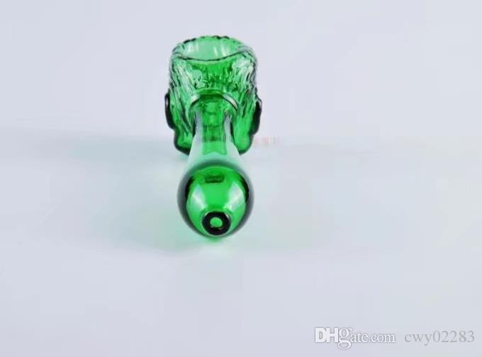 Animal visage pipe Gros bongs en verre Brûleur à mazout Tuyaux d'eau en verre Oil Rigs fumer gratuit
