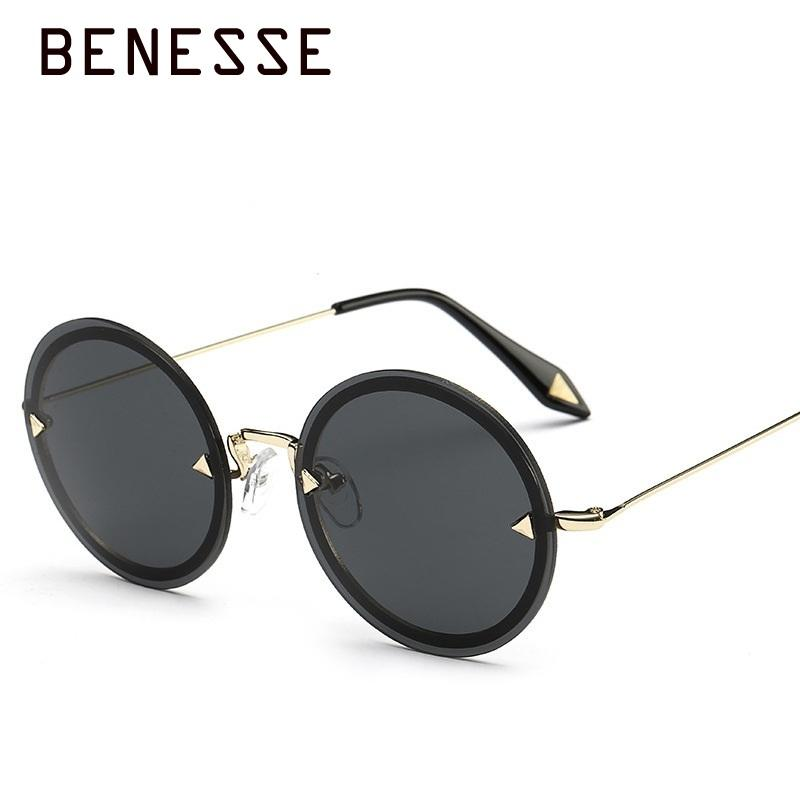 dad986cd519 New Round Retro Sunglasses Woman Fashion Colorful Metal High Quality  Personality Uv Protection Multicolor Sun Glasses UV400 Gold John Lennon  Sunglasses ...