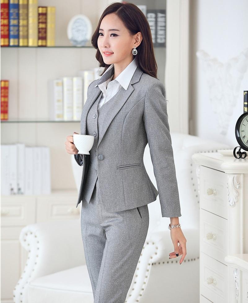 b01a35a52315 Новые профессиональные осенние зимние деловые костюмы с куртками и брюками  ...