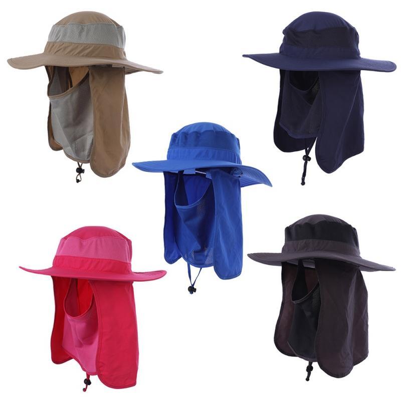 Compre Secado Rápido Gorra De Pesca Transpirable Protección Solar Sombrero  Para El Sol Hombres Mujeres Al Aire Libre Capucha Larga Gorra De Montañismo  ... f1574a665e2