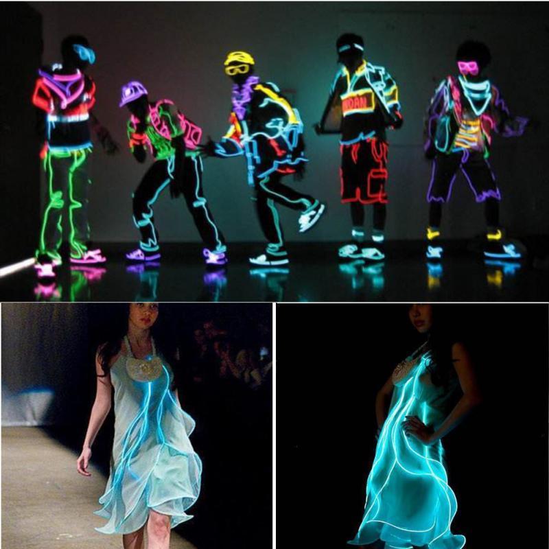 2018 10m Led El Wire Light Flexible Soft Tube Wire Neon Glow Car ...