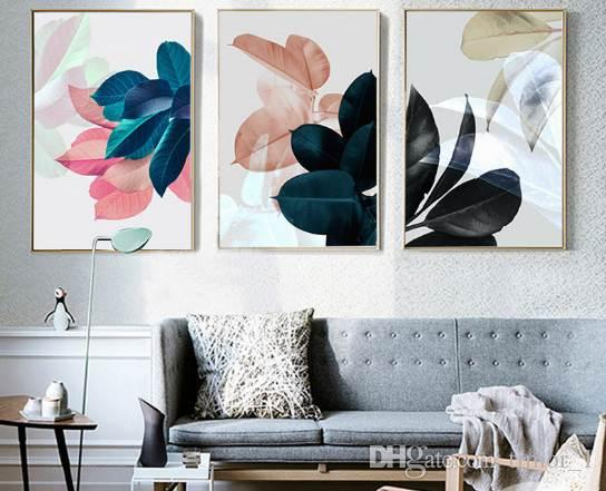 nordic poster plants leaf picture art print wall pictures for living rh dhgate com
