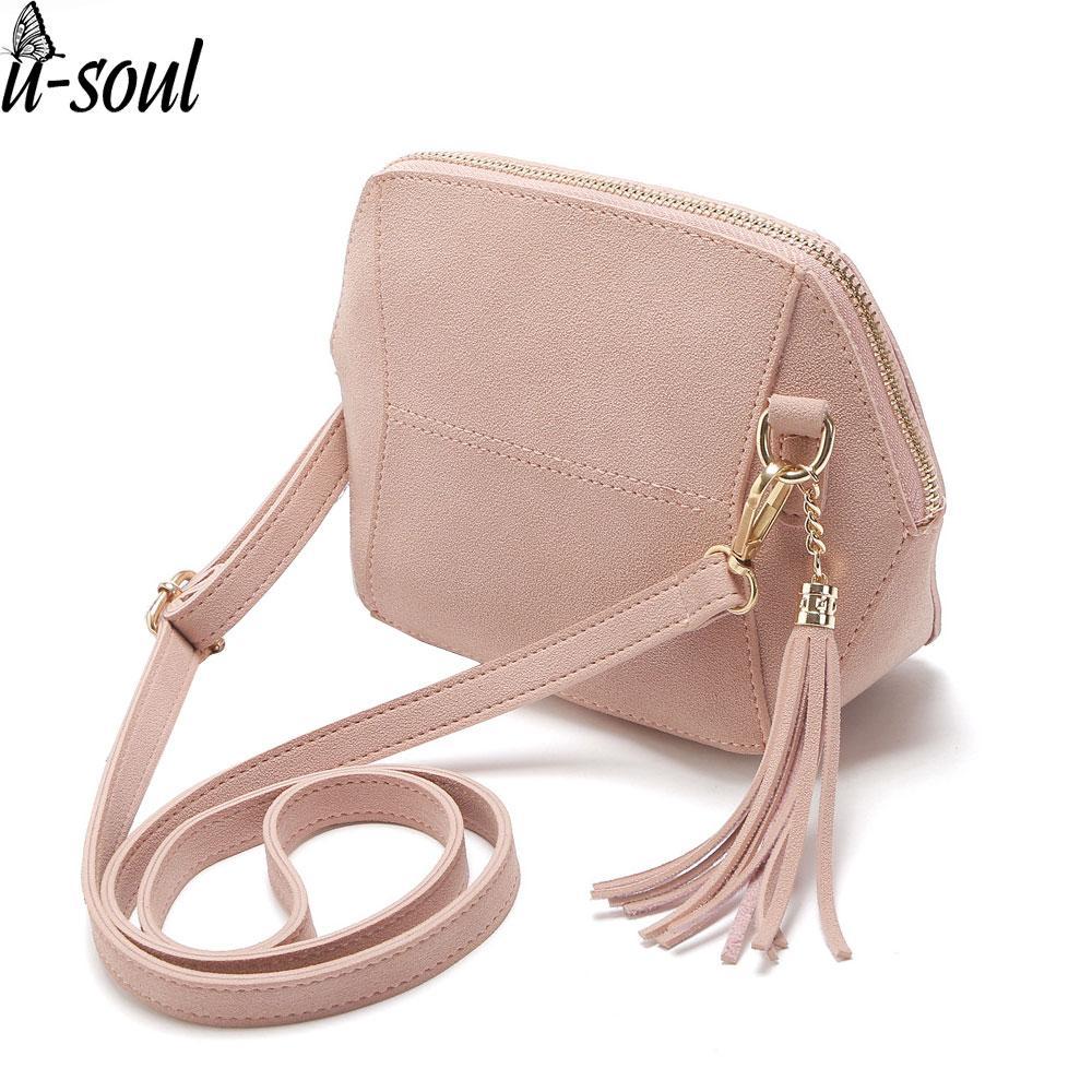 5cc19370c23d fashion female messenger bag tassel crossbody Bags pu leather mini tassel  women leather shoulder bag A806/M