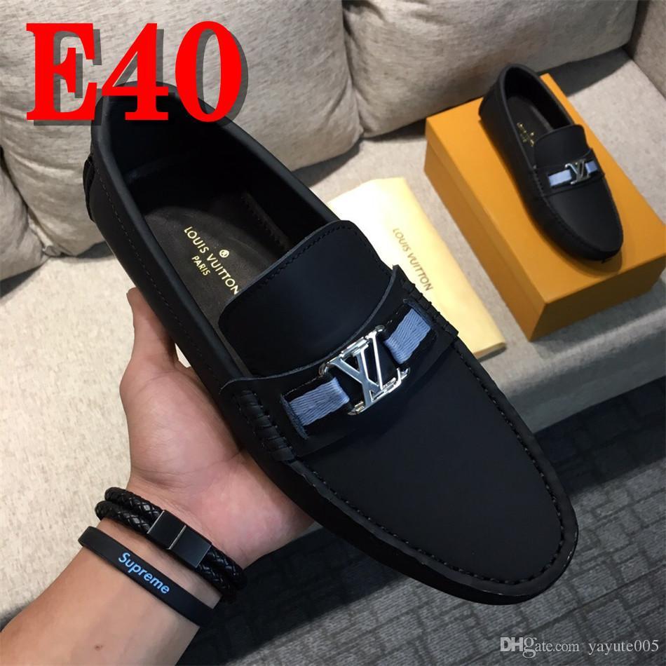 39447008cc Compre 2018 Sapatos De Couro Dos Homens Mocassins Mocassins Homens  Sapatilhas Sapatos De Condução Ocasionais Dos Homens Apartamentos Preto  Sapato Masculino ...