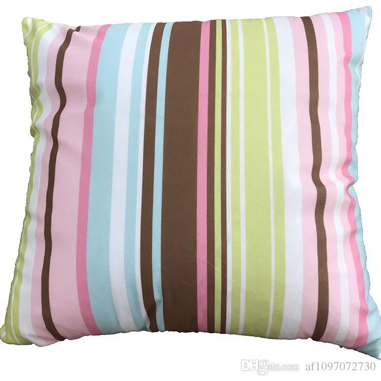 New Multicolor 5 Designs Pillowcase Soft Fleece Multicolored Geometric Pattern Series Pillow Case Sofa Cushion Cover Car Lumbar Pillow Cover