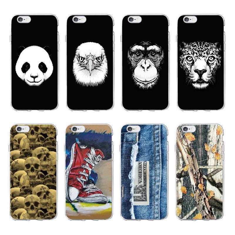 104743a60d9 Fundas Para Moviles Personalizadas Eagle Ape Monkey Skull Cross Panda  Leopard Funda Suave Para IPhone 5S 6 6S 7 7Plus 8 8Plus X XS Max SAMSUNG  Fundas ...
