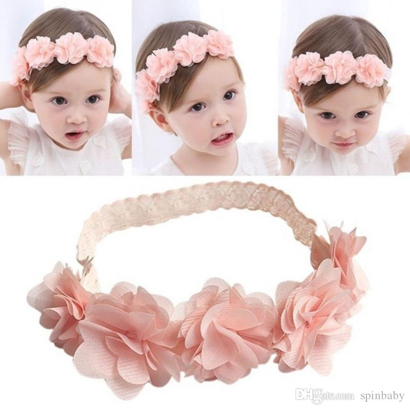cc6dbe0dc0a1 New Arrive Cute Baby Girl Toddler Lace Flower Hair Band Headwear Kids  Headband Accessories Girls Hair Accessories Online Wedding Hair Accessories  From ...