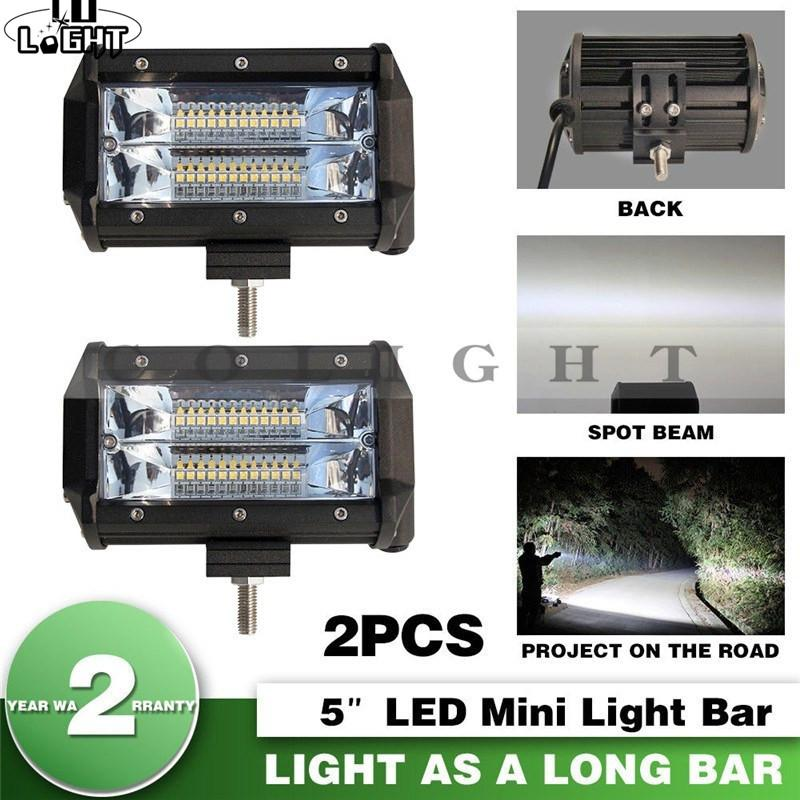 led bar offroad 5 72w led work light spot 12v 24v for lada truck suv rh dhgate com