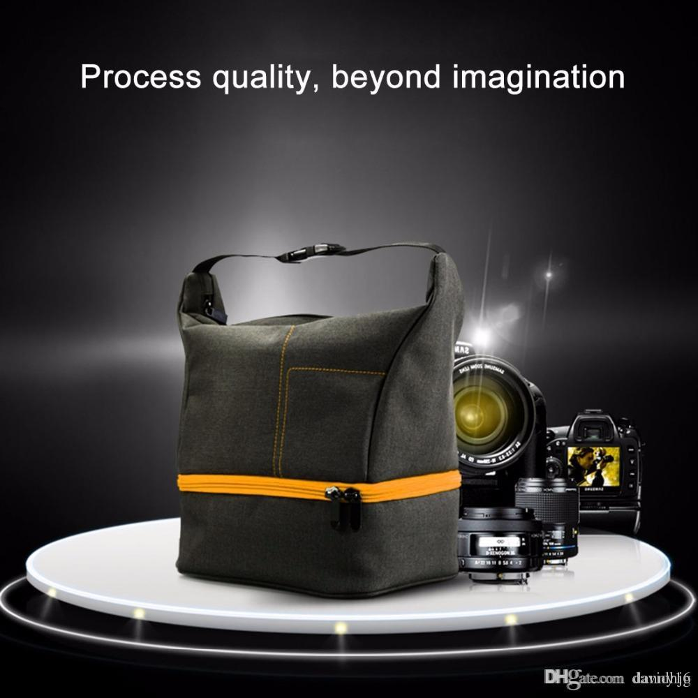 HUWANG Portable Waterproof Scratch-proof Abrasive Material Outdoor Sports Sling Shoulder Bag Handbag DSLR Camera Bag