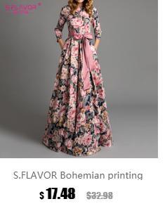 S. аромат женщины печати длинное платье 2018 осень зима мода три четверти рукав элегантный повседневная vestidos чешские женщины платье