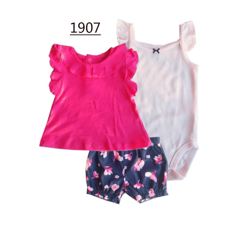 23b456bb5 2019 Newborn Baby Boy Girl Clothes Romper Pants Sets Pure Cotton ...