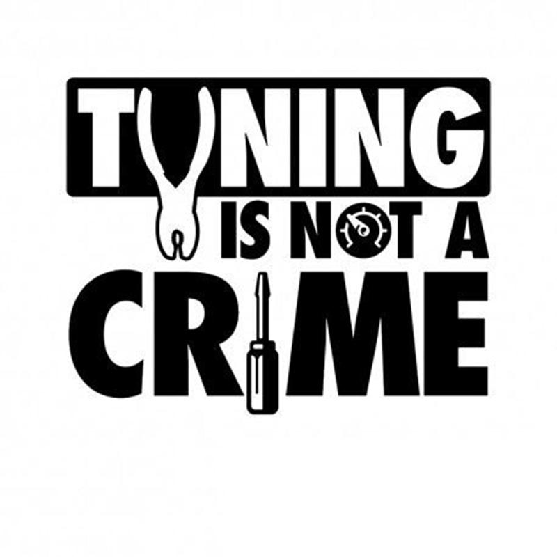 1512cm Tuning Is Not A Crime Sticker Jdm Aufkleber Frontscheibe Cute Interesting Fashion Sticker Decals