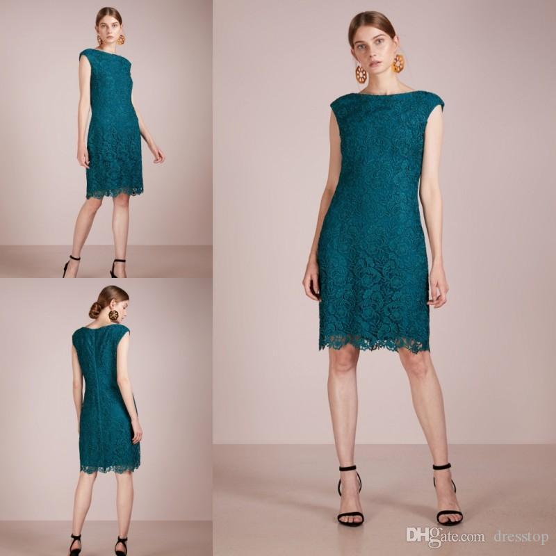 Peacock Mother of the Bride Dresses Knee Length